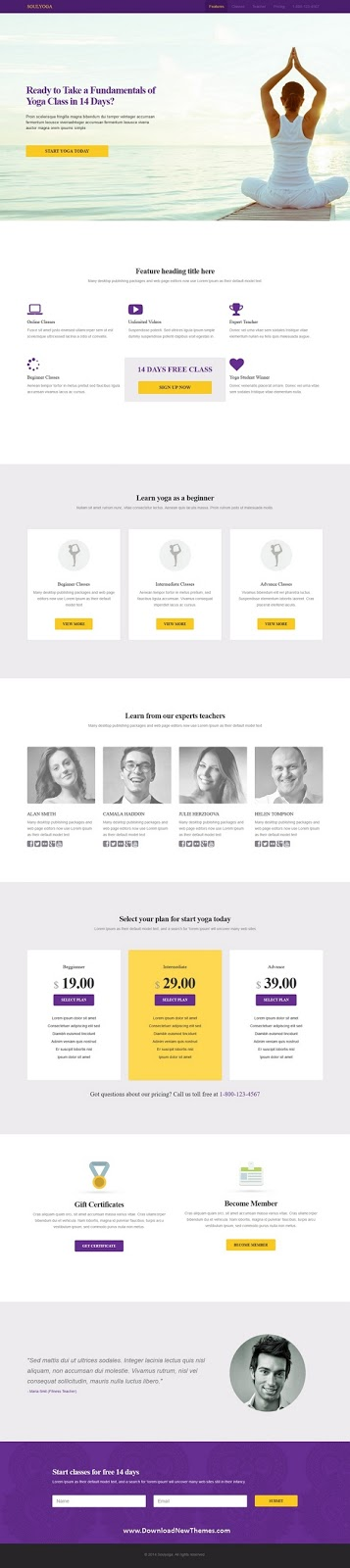 Landing Page HTML5 Template
