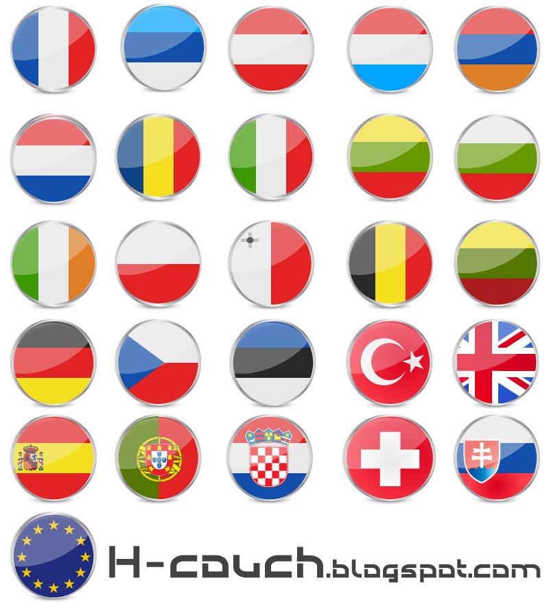 تحميل أعلام دول اوروبا مجانا Vector