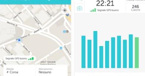 App per camminare, correre e contare passi, distanze, tempi e calorie