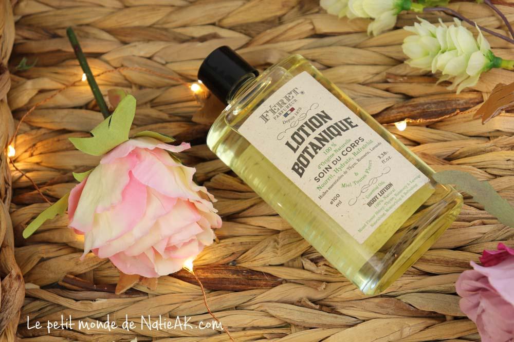 lotion botanique soin du corps Féret parfumeur