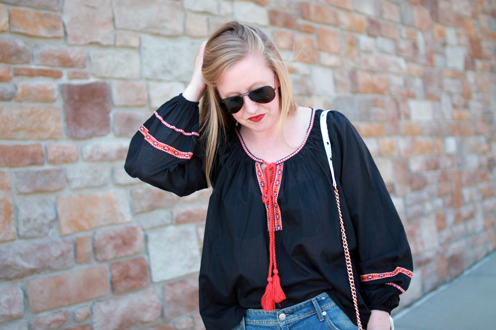 hm embroidered top, h&m sale picks, boston style blogger, boston fashion blogger