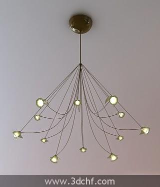 free 3d model ceiling lamp