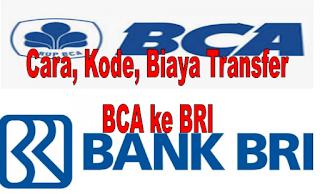 Cara, Kode, dan Biaya Transfer BCA ke BRI 2020