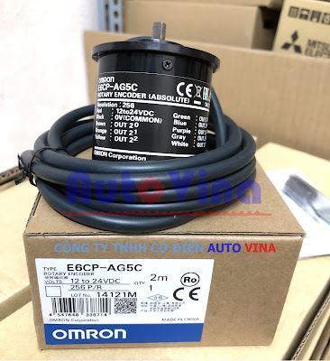 Đại lý bán Encoder Omron E6CP-AG5C 256 P/R loại tuyệt đối 8 bit