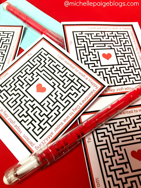 Maze Valentines to print and give @michellepaigeblogs.com