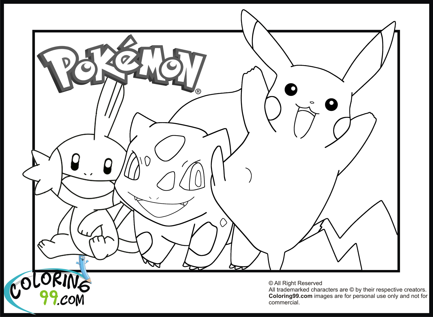 Coloring Pages Pikachu And Friends | Coloring Pages