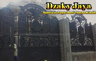 Pemasangan Gerbang Pagar Tempa Mewah Klasik di Bogor