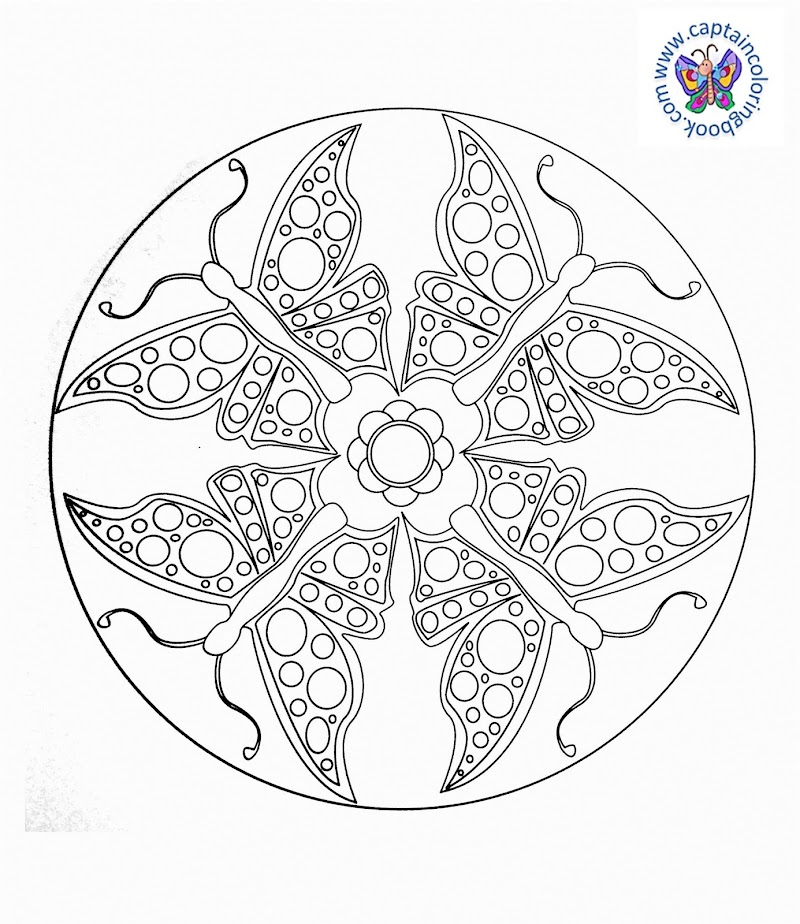 mandalas mit tieren malvorlagen schmetterlinge mandala