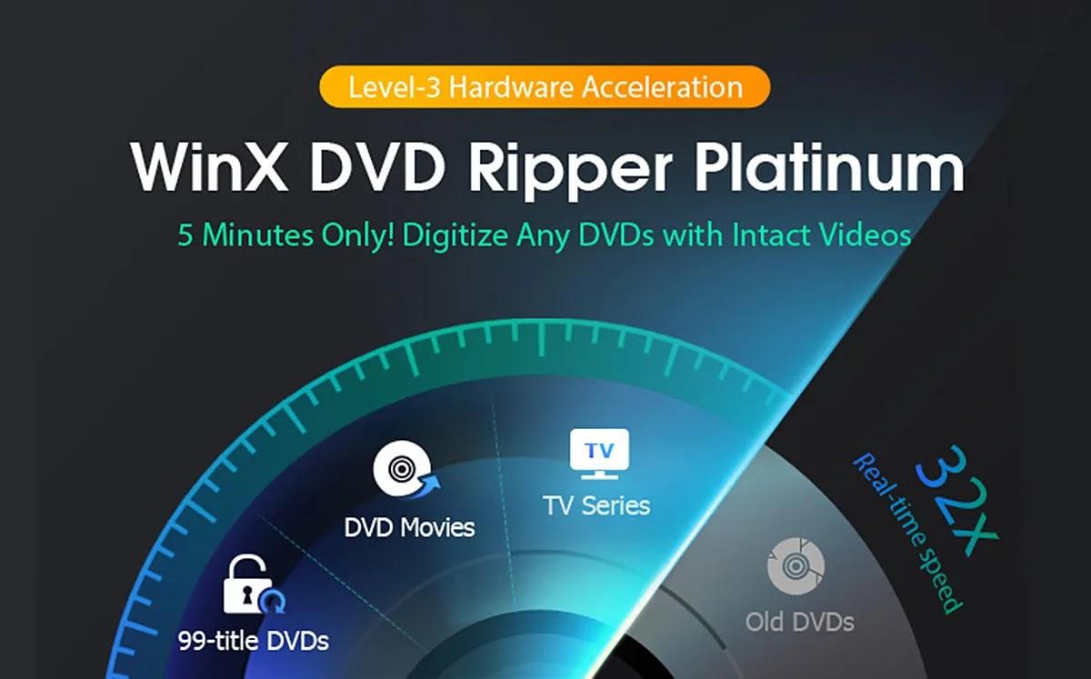 قم بنسخ قرص DVD كامل في 5 دقائق باستخدام WinX DVD Ripper Platinum