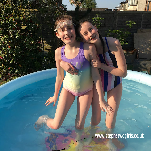 stephs two girls in paddling pool