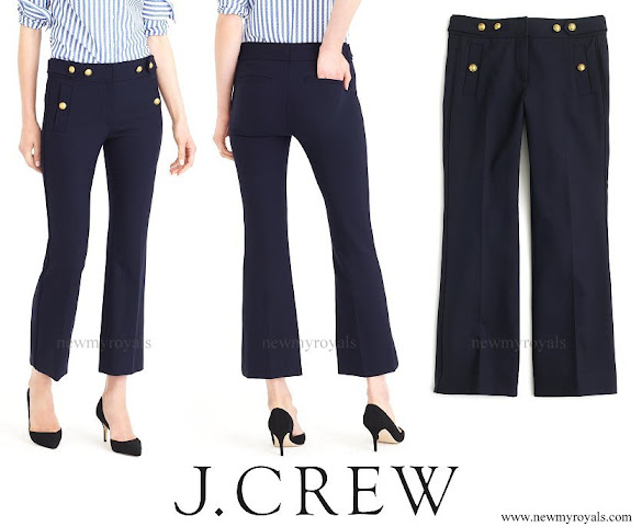 Kate Middleton wore J Crew Sailor Stretch Wool Pant
