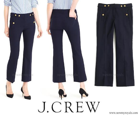 Kate Middleton wore J Crew Sailor Stretch Wool Pant