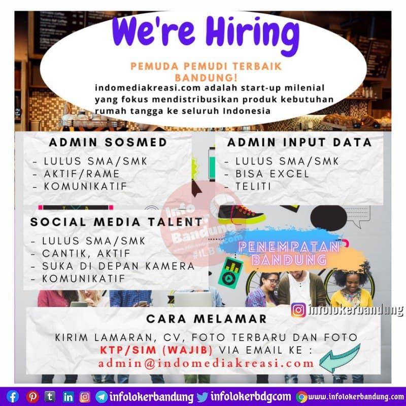 Lowongan Kerja Indo Media Kreasi Bandung Juni 2021