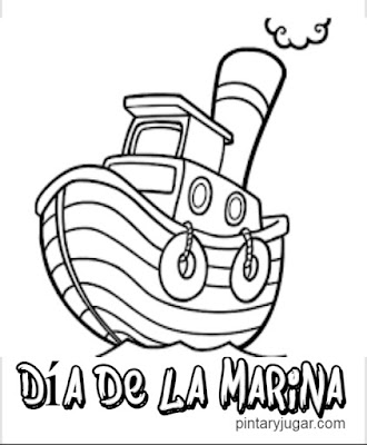 Dibujos colorear día de la marina