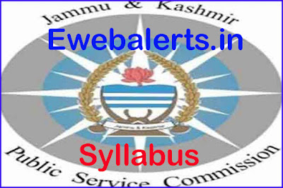 JKPSC Lecturer & Medical Officer Syllabus