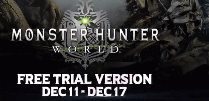 Monster Hunter World Free Trial Available From 11 To 17 December