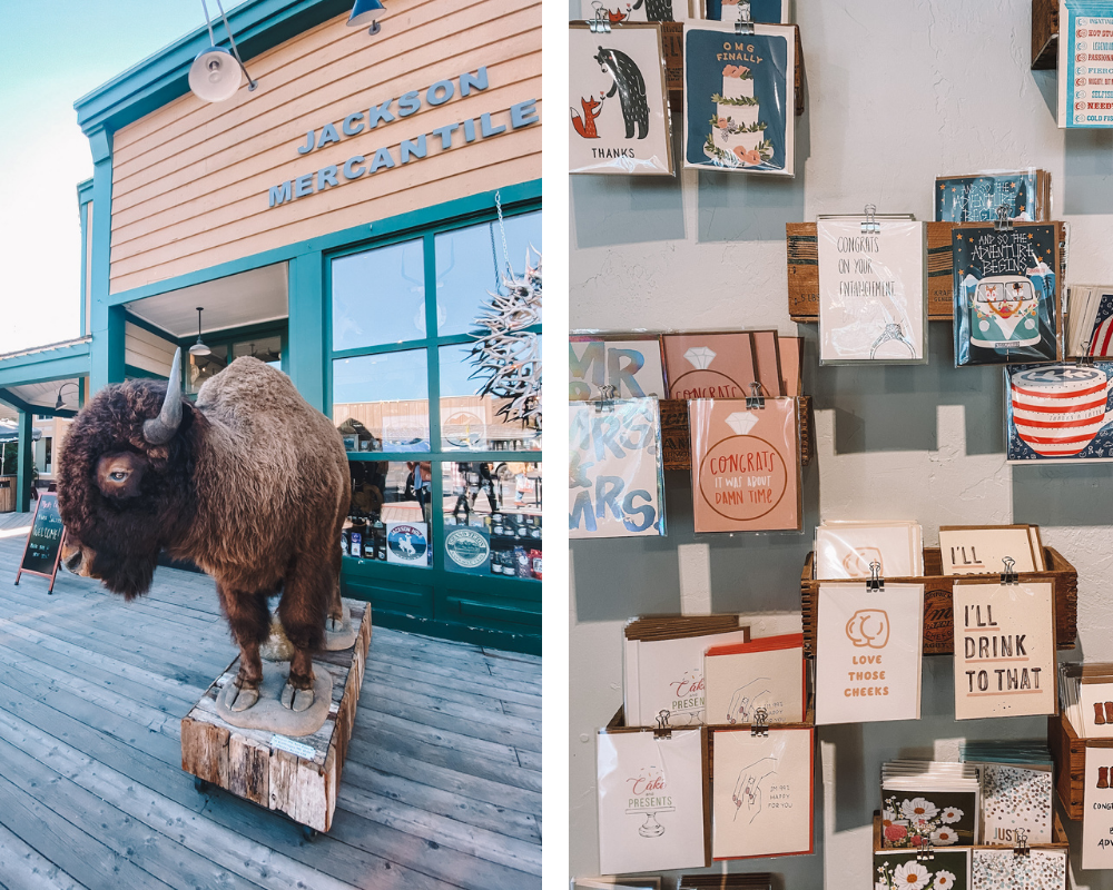 travel blogger @amandasok shares where to shop in Jackson Hole, WY