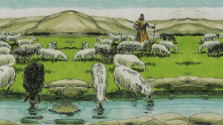 Il pastore, le pecore bianche e quelle nere