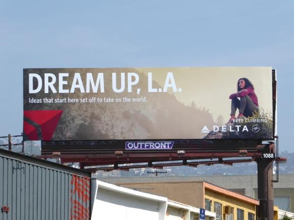 Delta Airlines Dream Up LA billboard