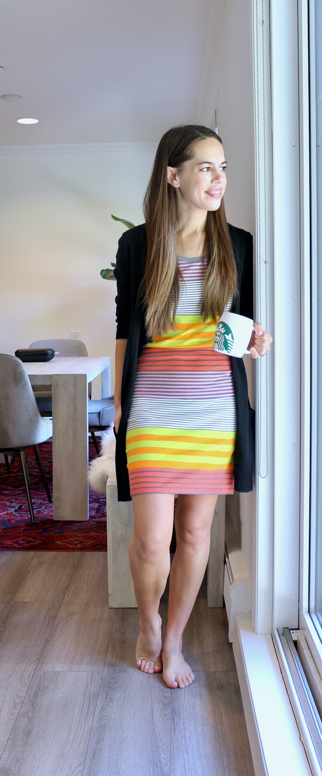 Jules in Flats - Striped T-Shirt Dress (Easy Work from Home Outfit)