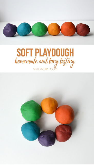 The best homemade recipe for playdough that is pliable and not messy and last forever!