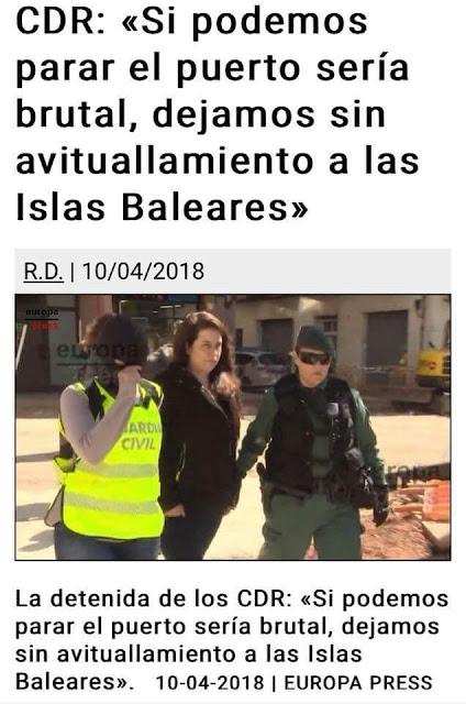CDR, si podemos parar el puerto sería brutal, dejamos sin avituallamiento a las Islas Baleares.