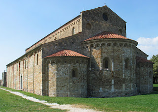 The Basilica of San Piero a Grado occupies the site where Porto Pisano once stood as the port of Pisa