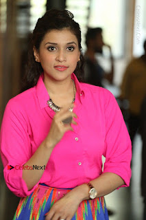 Actress Mannar Chopra in Pink Top and Blue Skirt at Rogue movie Interview  0077.JPG
