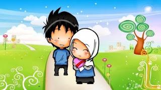 Gambar Kartun Lucu Muslim Berpasangan