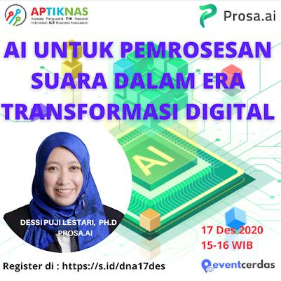 Bagaimana Artificial Intellegence membantu Transformasi Digital Bisnis Anda ? 17 Des 2020