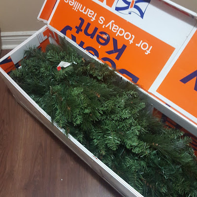 Artificial Christmas Tree Storage made from recycled Coroplast sheet plastic. Giving life back to plastic that would have otherwise gone to the landfill - Coroplast DIY - CoroplastCreations.com - HalifaxSportsPhotos.ca