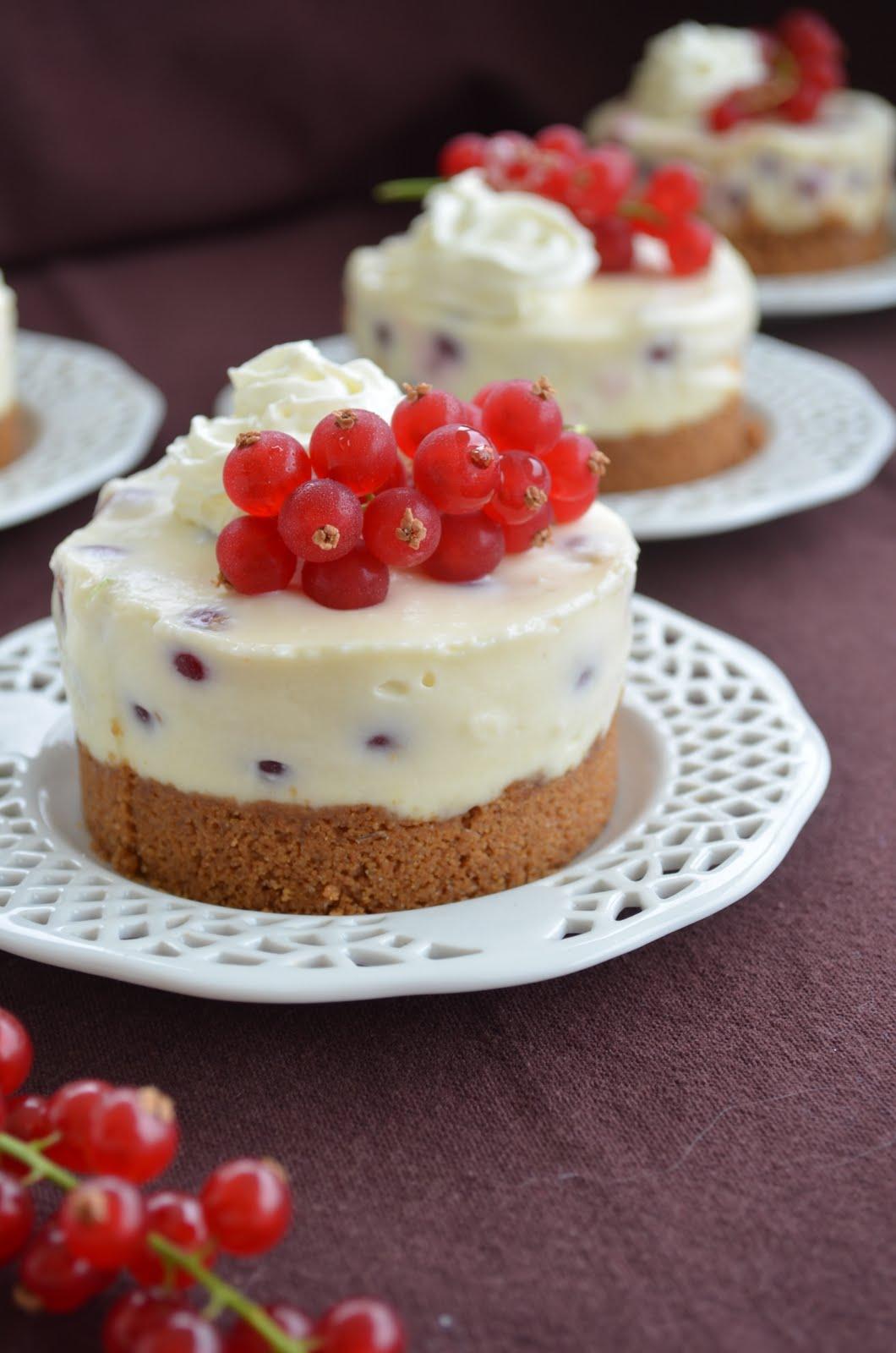 No-Bake Cheesecakes aux groseilles et au citron