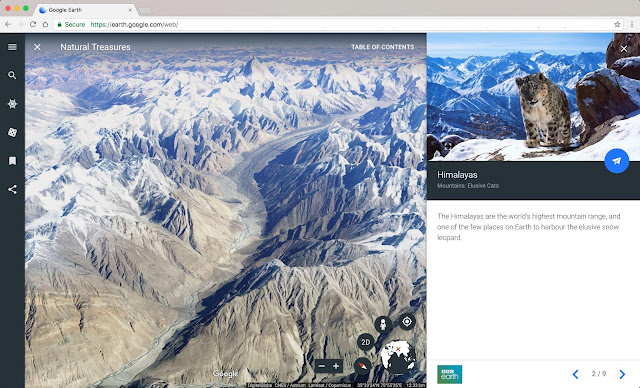 Screenshot einer Google Earth Ansicht am Desktop-PC.