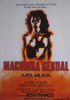 affiche poster de Macumba Sexual de Jess Franco avec Lina Romay et Ajita Wilson