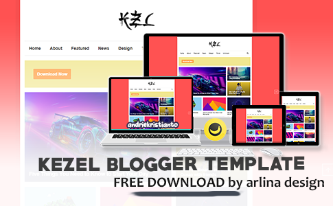 Kezel Responsive Blogger Template by Arlina Design