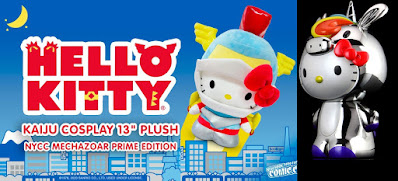 New York Comic Con 2020 Exclusive Hello Kitty Mechazoar Prime Edition Kaiju Cosplay Plush & Chrome Hello Kitty Unicorn Vinyl Figure