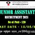 OIL India Limited Recruitment  - Junior Assistant 120 Vacancy