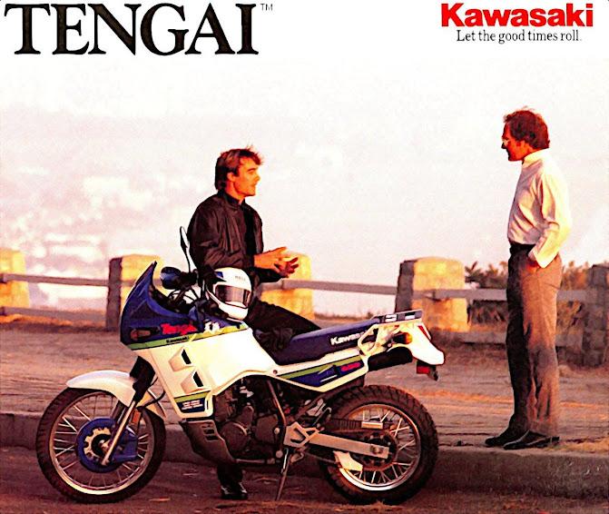 Kawasaki KLR 650 Tengai publicity shot circa 1989