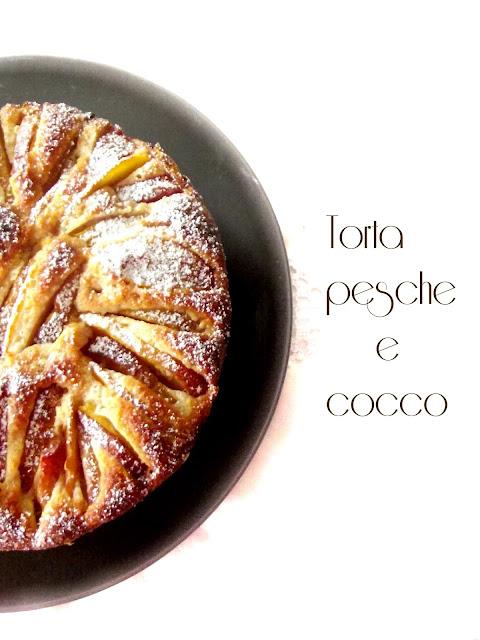 pesche -cocco-farina integrale-torte-colazione