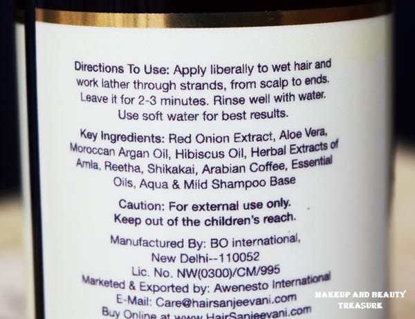 hair sanjeevani hair shampoo