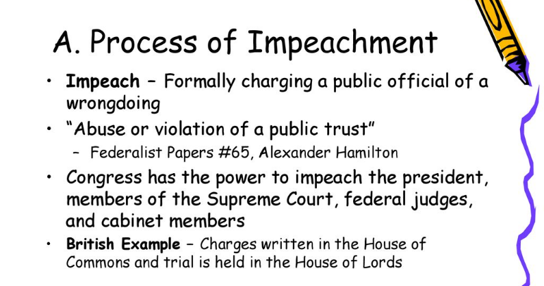 federalist papers on impeachment