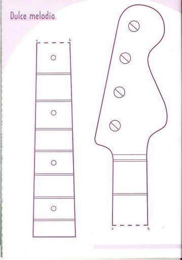 Guitar cake template cake ideas and designs for Strat neck template