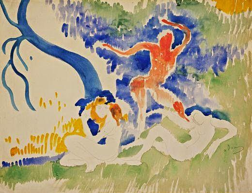 Dança Báquico - André Derain e suas principais pinturas ~ (Fauvismo) Francês