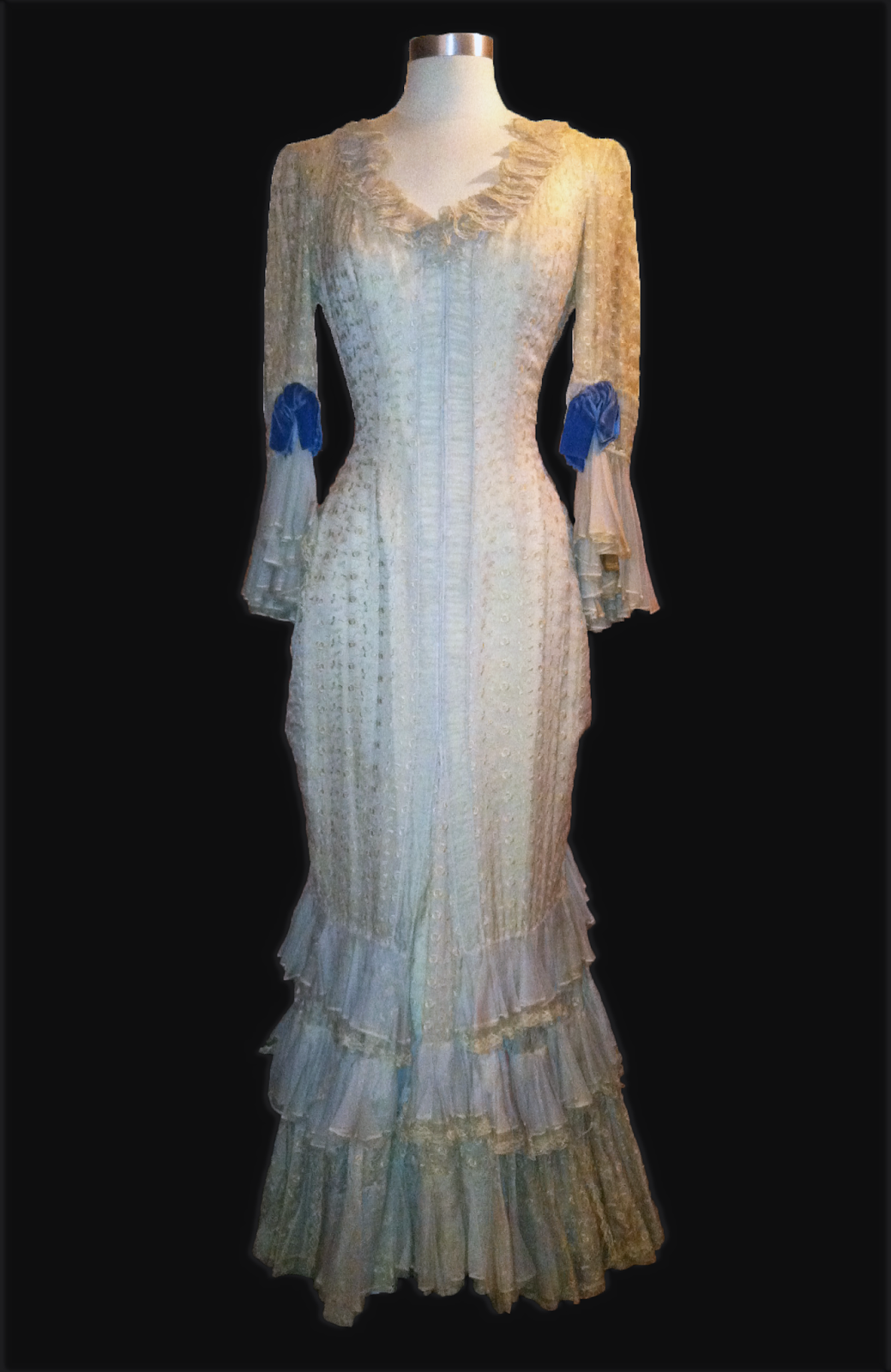 "A Linda Darnell period gown worn in ""Centennial Summer"""