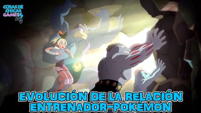 Evolución de la relación entrenador pokémon Judith Bea Machop Machoke Machamp Alas del Crepúsculo