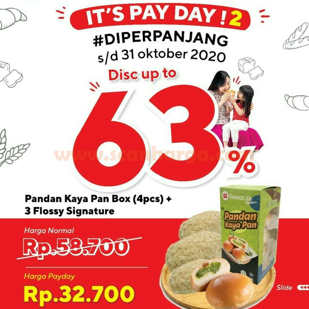 Promo BREADLIFE PAYDAY Paket Roti Hemat 63%