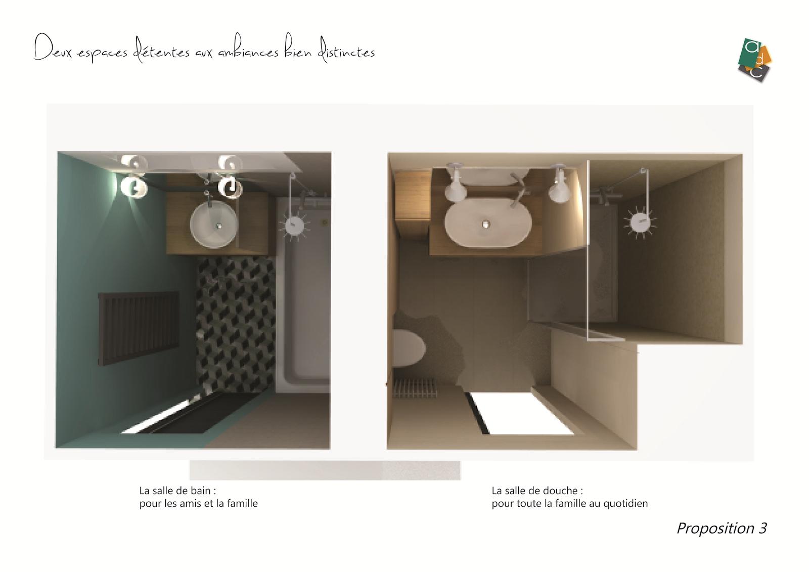 Adc l 39 atelier d 39 c t am nagement int rieur design d for Difference salle d eau salle de bain