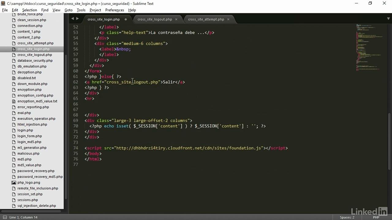 Portada del curso seguridad en PHP