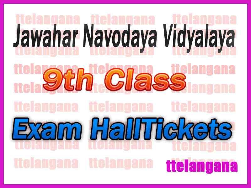 Navodaya 9th Class Entrance Exam  Admit Cards / Hall Tickets Exam Date