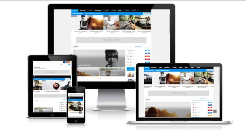Rin Magz responsive magazine or newspaper blgger template  theme